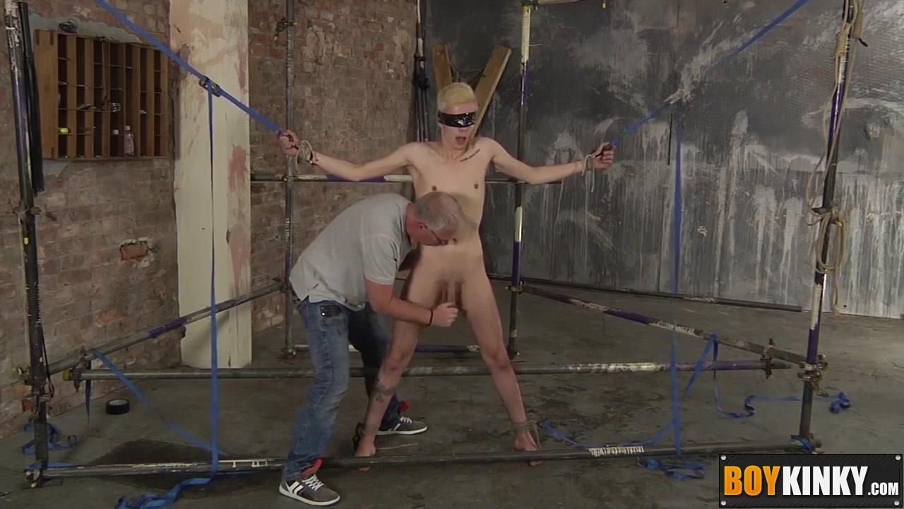 Blindfolded Twink Gets A Handjob