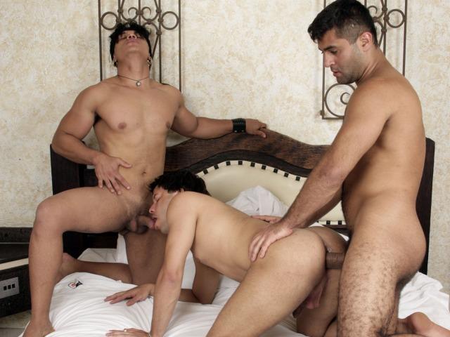Latino Threesome Sex