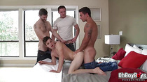 Hot gay double anal fucked in various positions