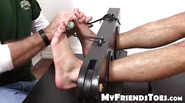 Cute and muscular dude Dane gets tied up and tickled