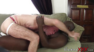 Stupid white twink bitch gets destroyed by a black monster