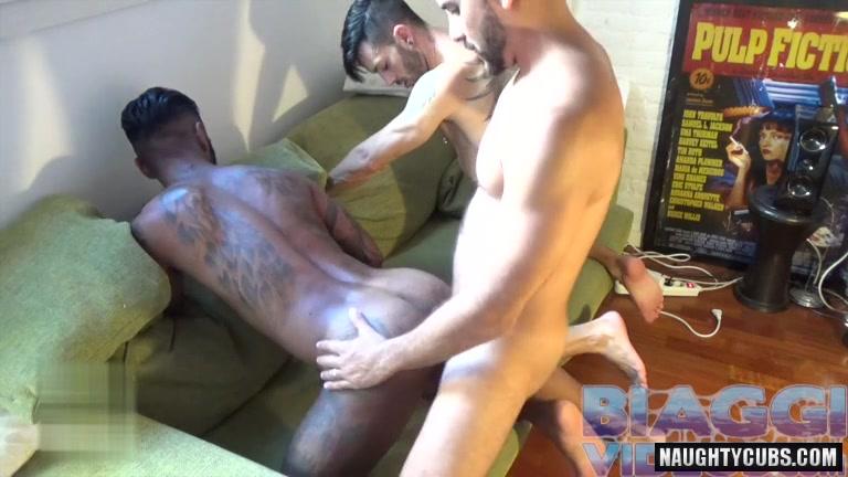 Latin gay 3some with cumshot