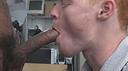 Horny stud jerks off as a BBC ravages his ass