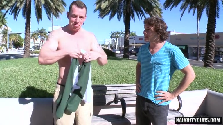 Hot gay outdoor and cumshot