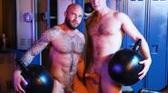 Muscular gays having fun