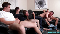Hairy son anal sex and cumshot