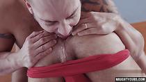 Latin gay anal sex with cum swap