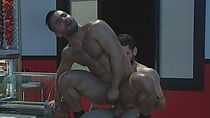 Two sexy and muscular studs bang hard