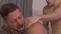 Tattooed guy banged with big dick