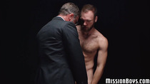 Bearded twink enjoys ass banging with a Mormon elder