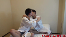 Asian guy has some anal lovemaking with tight twink ass