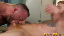 Inked hunk suffers wild raw hammering from lovers big dick