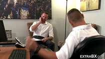Two Hot Hunks Fuck in the Office