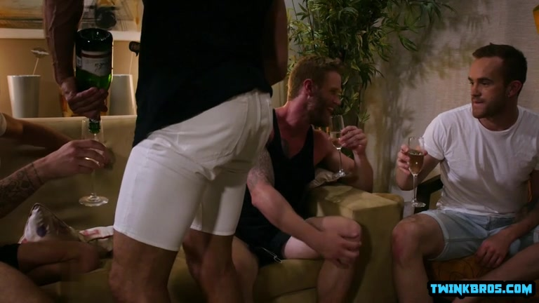 Big cock son foursome and cumshot