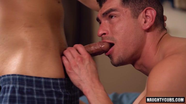 Latin Gay Spanking And Cumshot