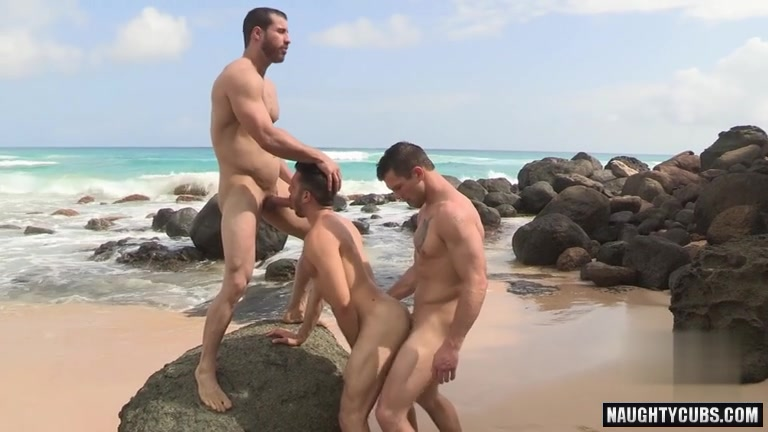 Latin gay 3some with facial
