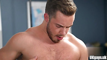 Muscle gay rimjob and eating cum