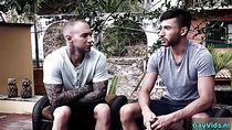 Tattoo gay flip flop and cumshot