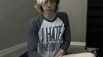 Cute Blonde Emo Twink