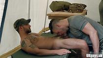 Big dick military bukkake and cum in mouth