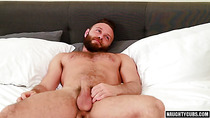 Hot bear threesome with cumshot