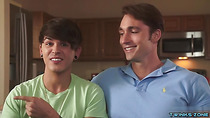 Brunette twinks anal sex and cum in ass
