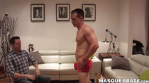 Hunky fireman slowly strips naked and wanks off his cock