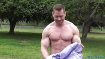 Muscle gay anal sex and facial cum