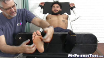 Latino gentleman hunk tied up and tickle tormented by dom